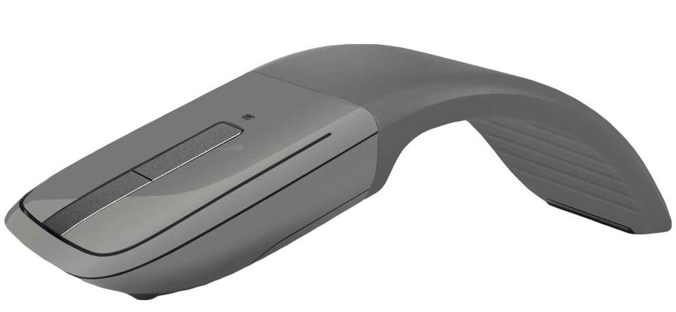 Cadou de Craciun Mouse Microsoft ARC Touch, Bluetooth, Argintiu