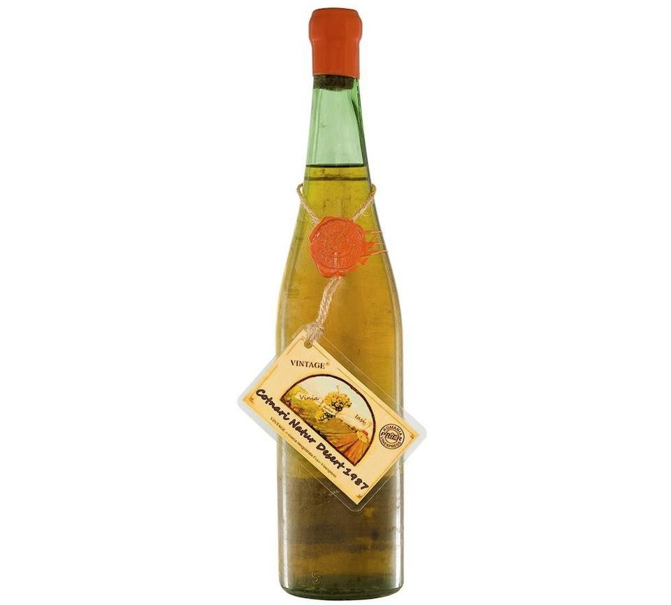 Cadou de Craciun Vin alb Natur Dessert din 1987, Cotnari