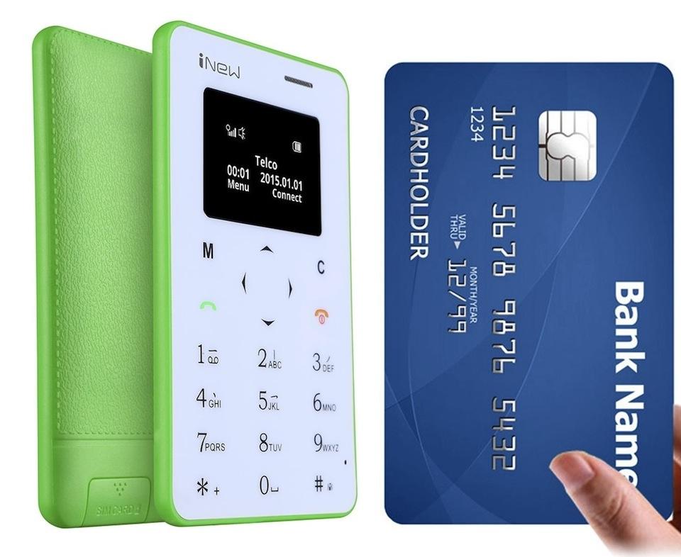 Cadou de Craciun Telefon GSM carte de vizita iNew Mini 1