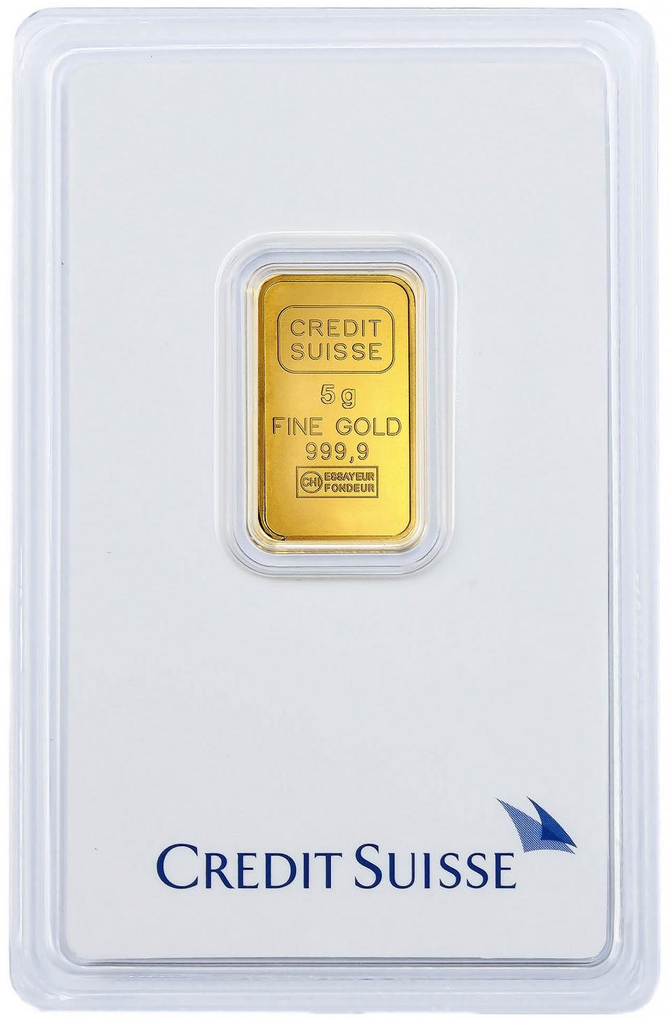 Mini Lingou Aur 5 g, 24 K, Credit Suisse