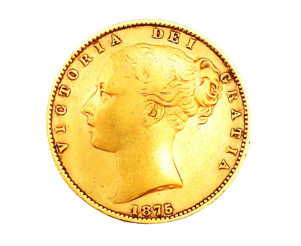 Moneda de aur masiv 22 K, British Sovereign